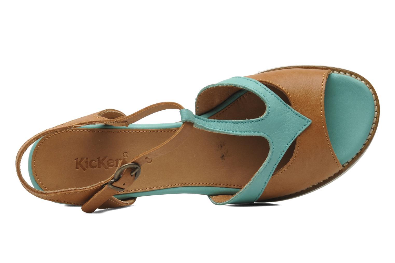 Sandalen Kickers Seshuan grün ansicht von links