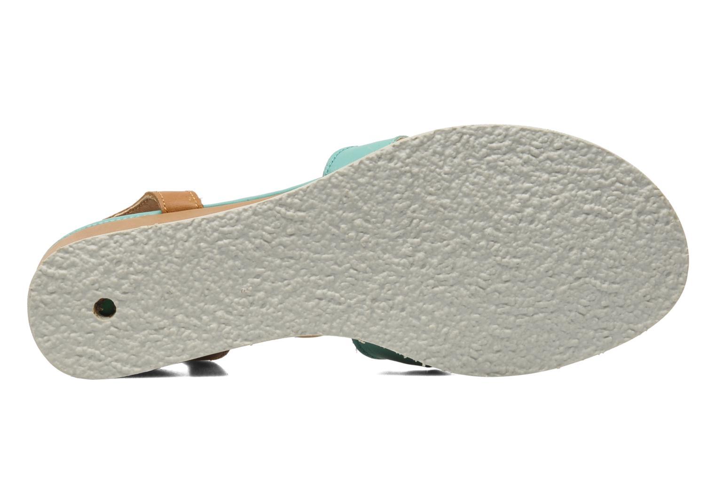 Sandales et nu-pieds Kickers Seshuan Vert vue haut