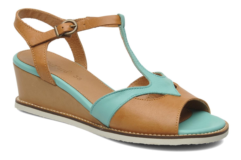 Sandales et nu-pieds Kickers Seshuan Vert vue détail/paire