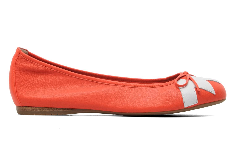 Ballerinas Madison Clune orange ansicht von hinten