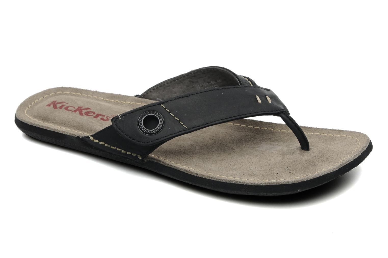 Slippers Kickers Spacy Zwart detail