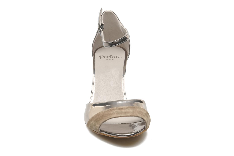 Sandalen Perlato Pone silber schuhe getragen