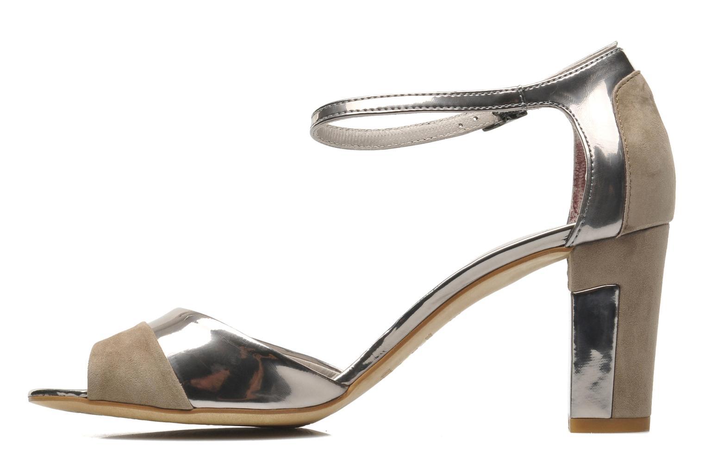 Sandalen Perlato Pone silber ansicht von vorne