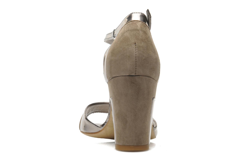 Sandalen Perlato Pone silber ansicht von rechts