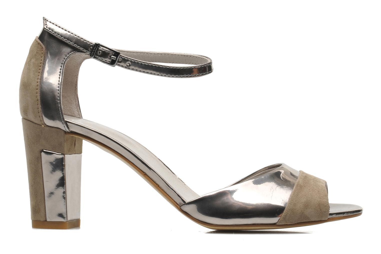 Sandalen Perlato Pone silber ansicht von hinten