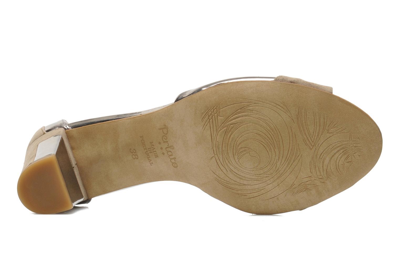 Sandalen Perlato Pone silber ansicht von oben