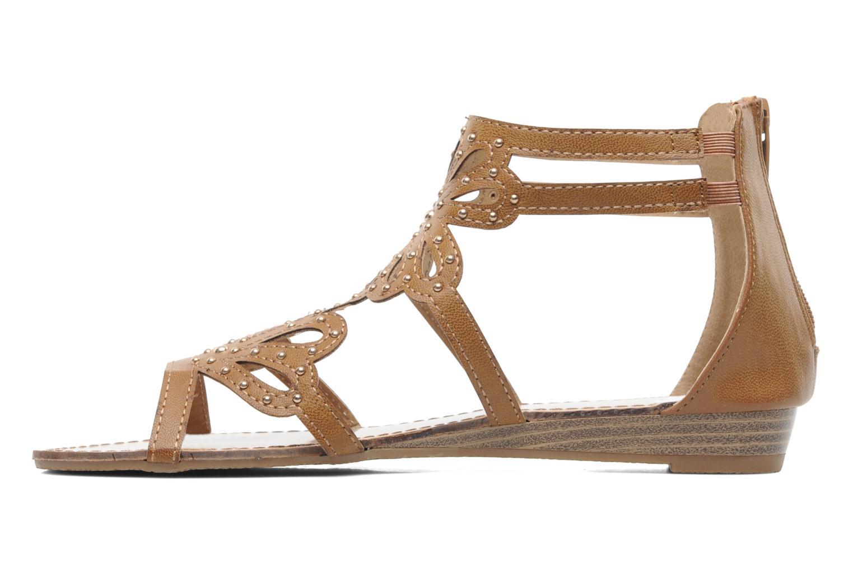 Sandales et nu-pieds Latinas Calla Marron vue face