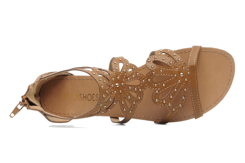Sandales et nu-pieds Latinas Calla Marron vue gauche