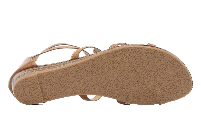 Sandales et nu-pieds Latinas Calla Marron vue haut