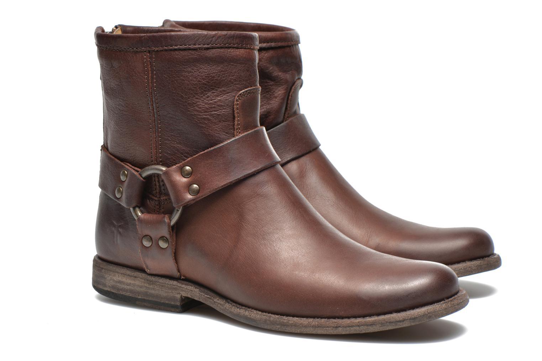 Bottines et boots Frye Phillip Harness W Marron vue 3/4