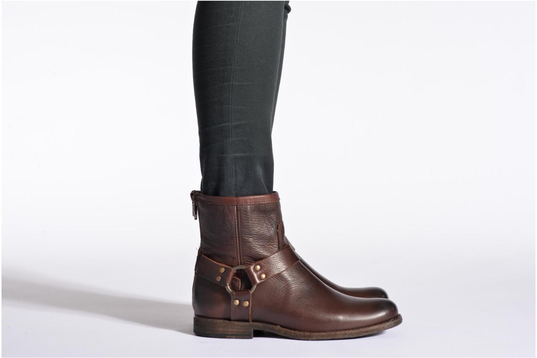 Bottines et boots Frye Phillip Harness W Marron vue bas / vue portée sac