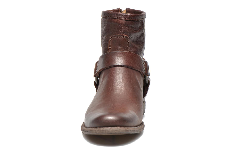 Bottines et boots Frye Phillip Harness W Marron vue portées chaussures