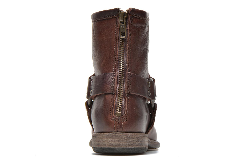 Bottines et boots Frye Phillip Harness W Marron vue droite