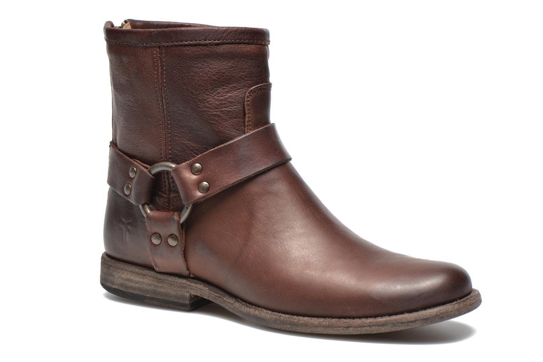Bottines et boots Frye Phillip Harness W Marron vue détail/paire