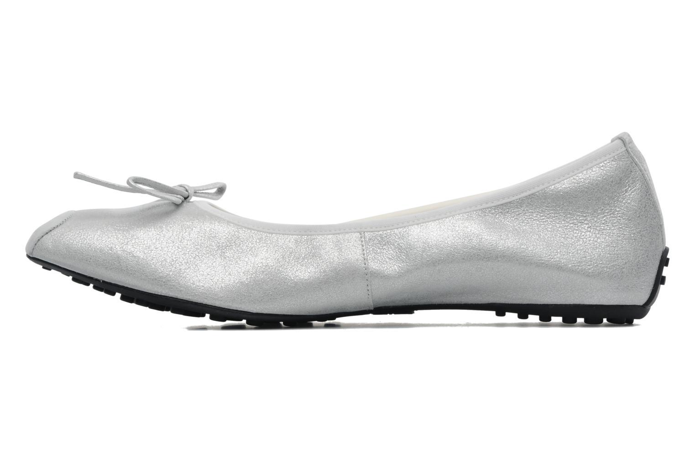 Ballerinas Elizabeth Stuart Lacq 415 silber ansicht von vorne
