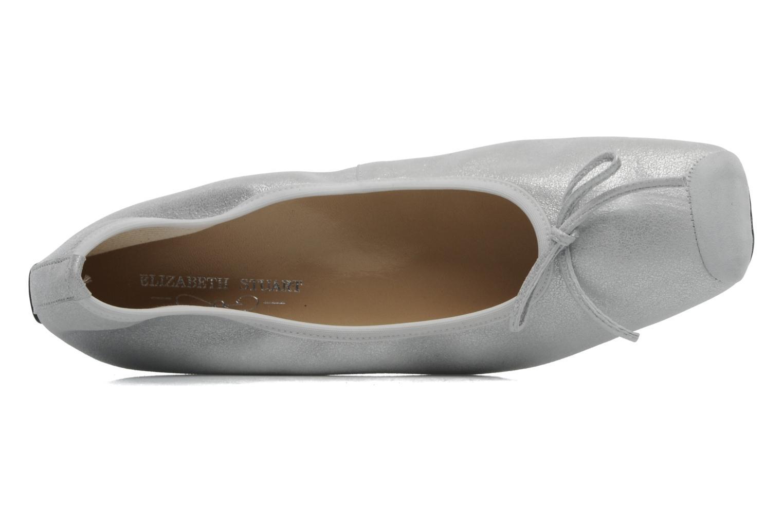 Ballerinas Elizabeth Stuart Lacq 415 silber ansicht von links