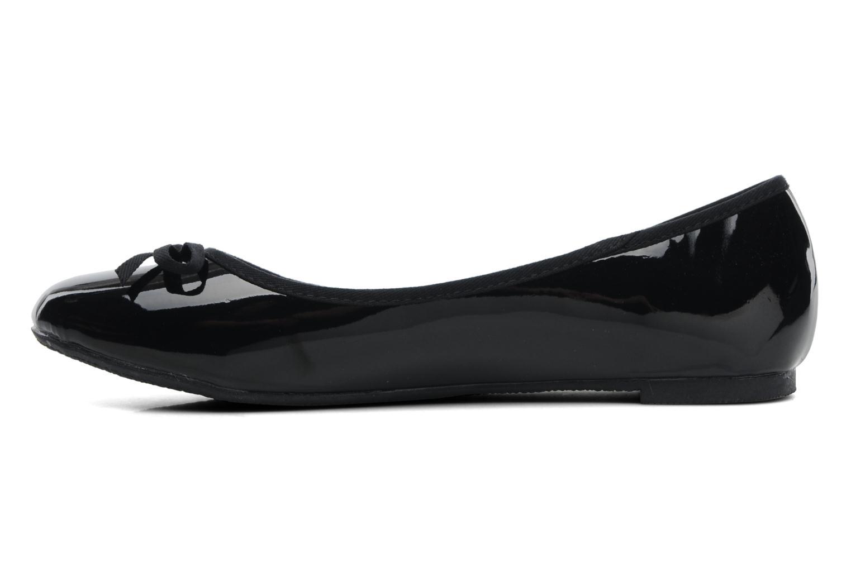 Ballerinas Elizabeth Stuart Castel 813 schwarz ansicht von vorne