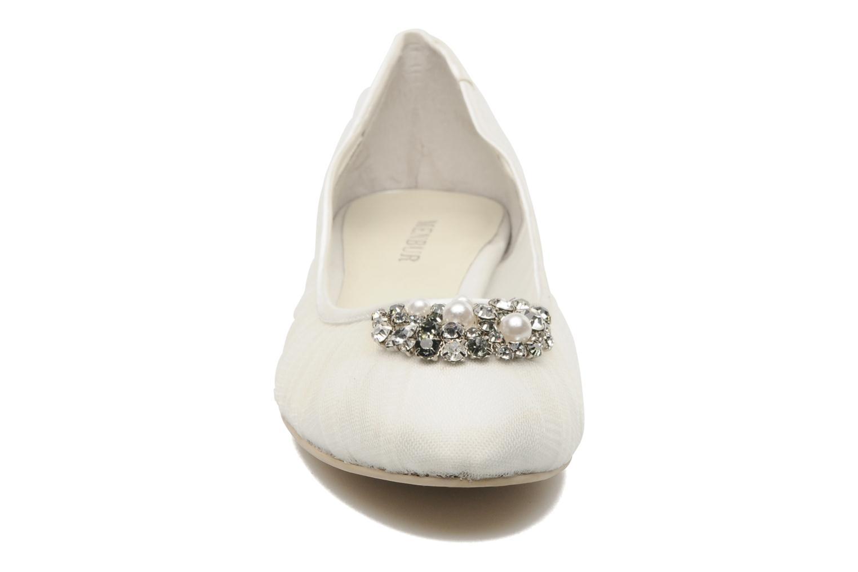 Ballerines Menbur Frida Blanc vue portées chaussures