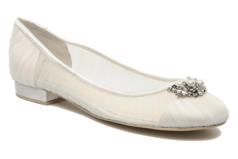 Ballerinaer Menbur Frida Hvid detaljeret billede af skoene