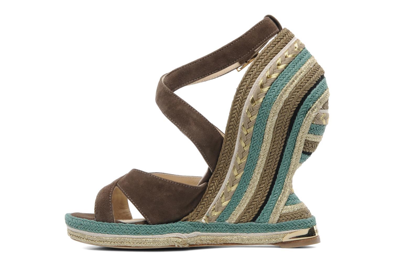 Sandales et nu-pieds Paloma Barcelo Mima Marron vue face