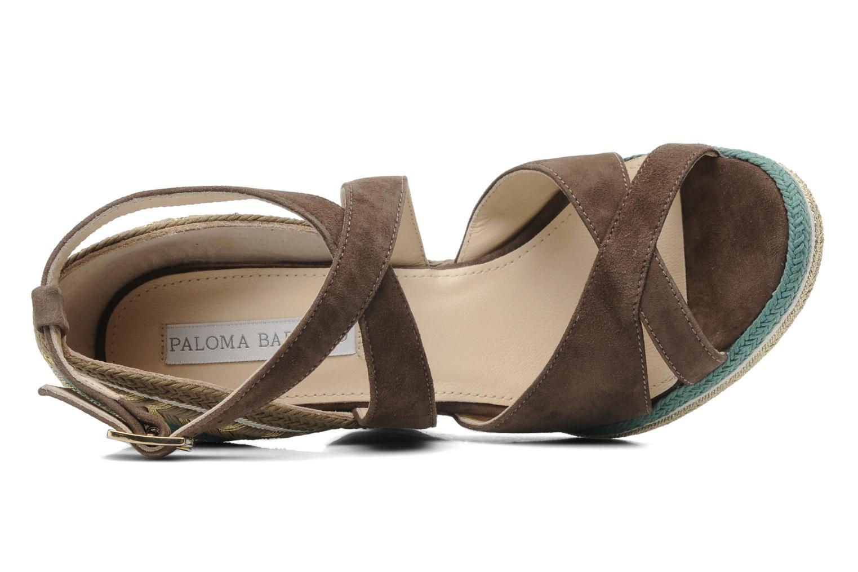 Sandales et nu-pieds Paloma Barcelo Mima Marron vue gauche