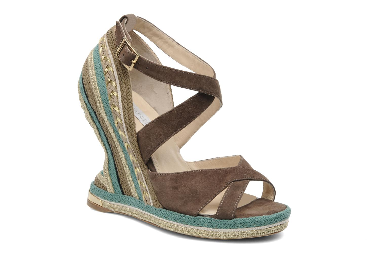 Sandals Paloma Barcelo Mima Brown detailed view/ Pair view