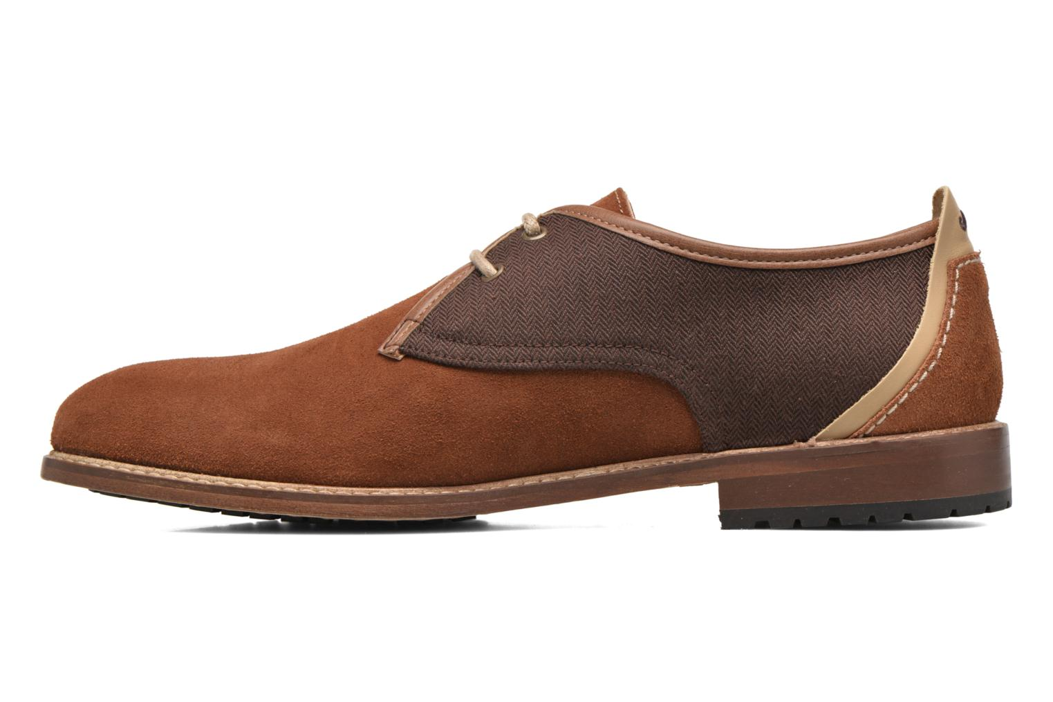 Lace-up shoes M. Moustache Léon Suede Brown front view