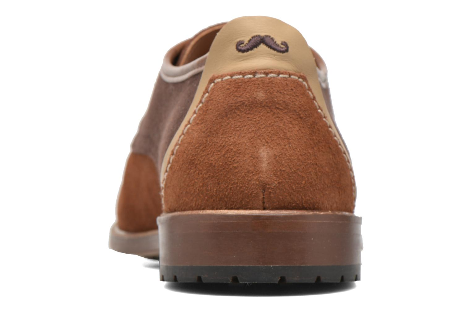 Lace-up shoes M. Moustache Léon Suede Brown view from the right