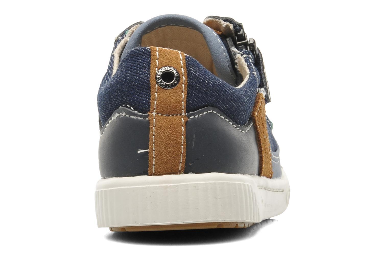 Sneakers Kickers Zigzaguer Blauw rechts