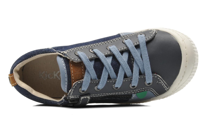 Sneakers Kickers Zigzaguer Blauw links