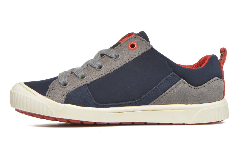 Sneakers Kickers Zigzaguer Blauw voorkant
