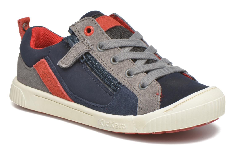 Sneakers Kickers Zigzaguer Blauw detail