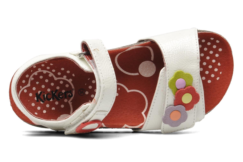 Sandales et nu-pieds Kickers Magiflower Blanc vue gauche