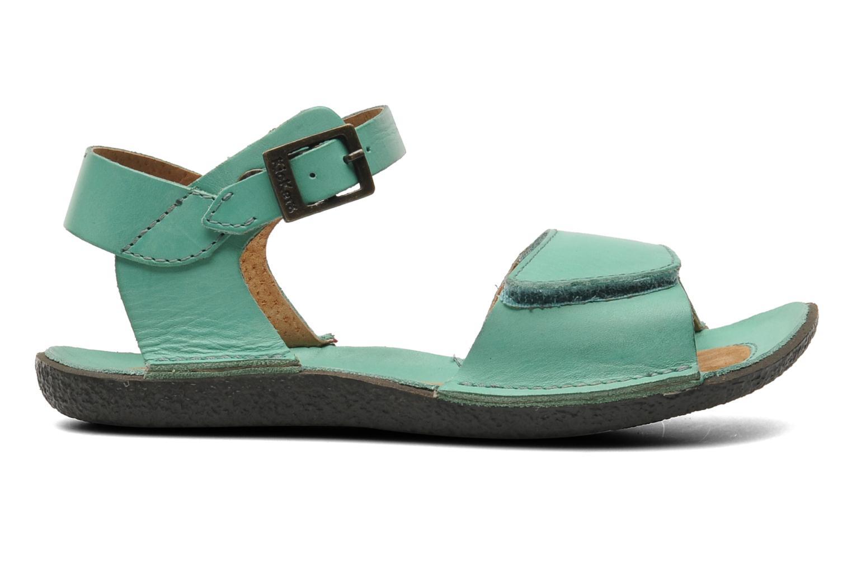 Sandalen Kickers Pepsi grün ansicht von hinten