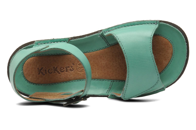 Sandalen Kickers Pepsi grün ansicht von links
