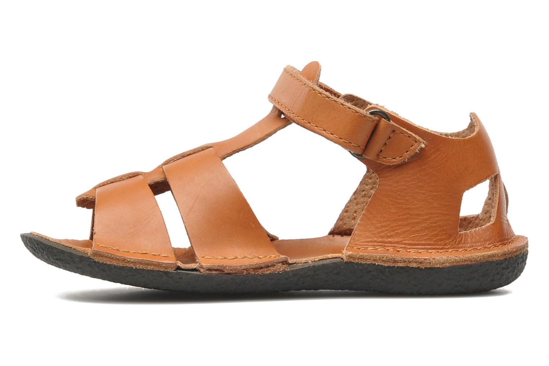 Sandales et nu-pieds Kickers Pipo Marron vue face
