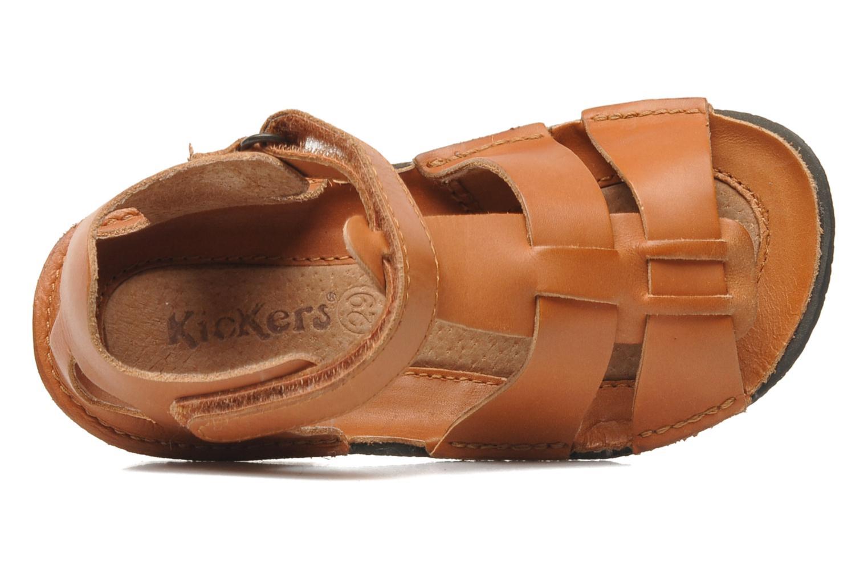 Sandales et nu-pieds Kickers Pipo Marron vue gauche