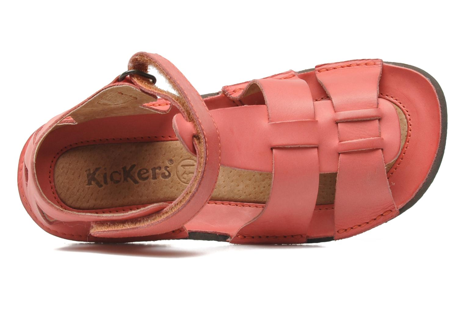 Sandalen Kickers Pipo Roze links