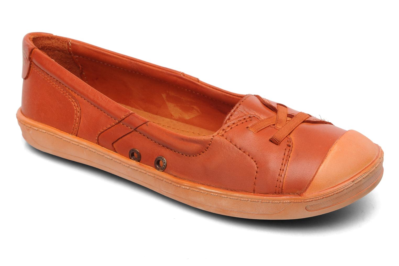 Ballerines Kickers Karenine Orange vue détail/paire