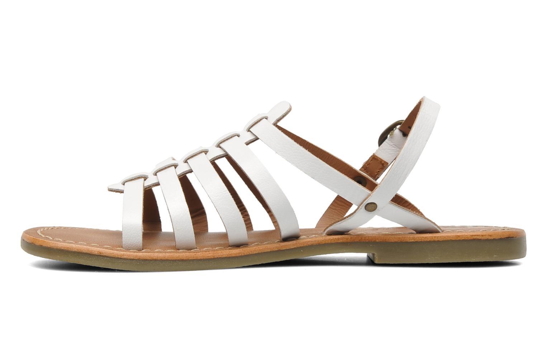 Sandales et nu-pieds Kickers Dixmillion Blanc vue face