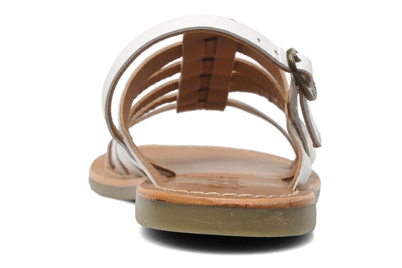 Sandales et nu-pieds Kickers Dixmillion Blanc vue droite