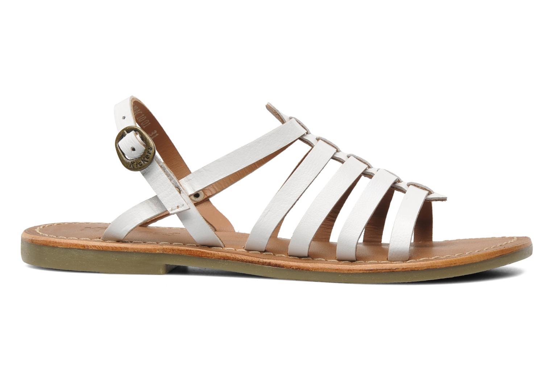 Sandales et nu-pieds Kickers Dixmillion Blanc vue derrière