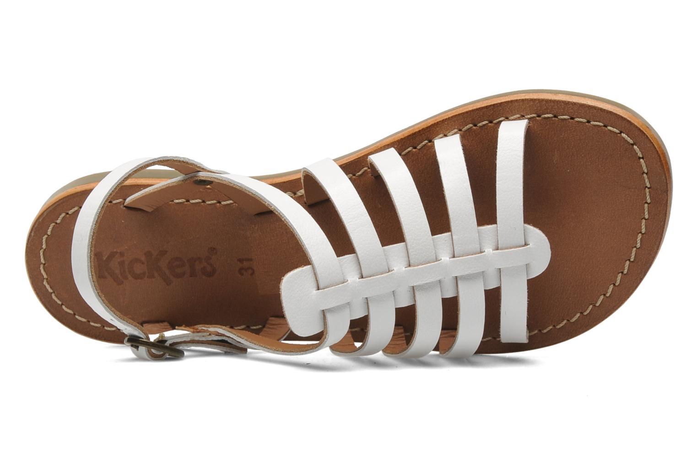 Sandales et nu-pieds Kickers Dixmillion Blanc vue gauche