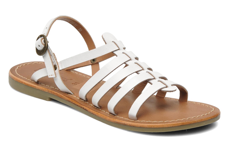 Sandales et nu-pieds Kickers Dixmillion Blanc vue détail/paire