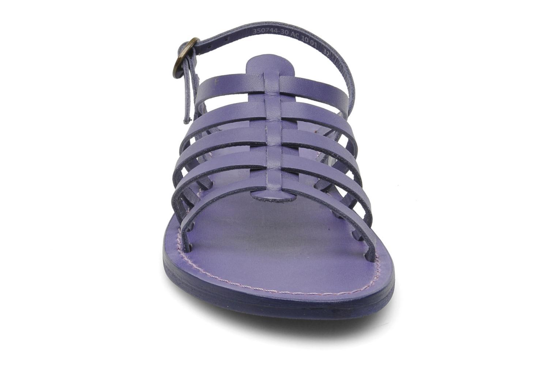 Sandalen Kickers Dixmillion lila schuhe getragen