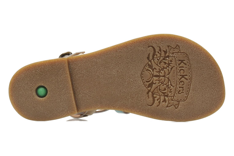 Sandalen Kickers Dixmillion Goud en brons boven