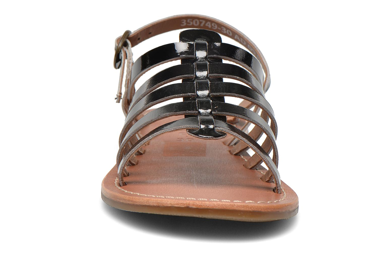 Sandalen Kickers Dixmillion schwarz schuhe getragen