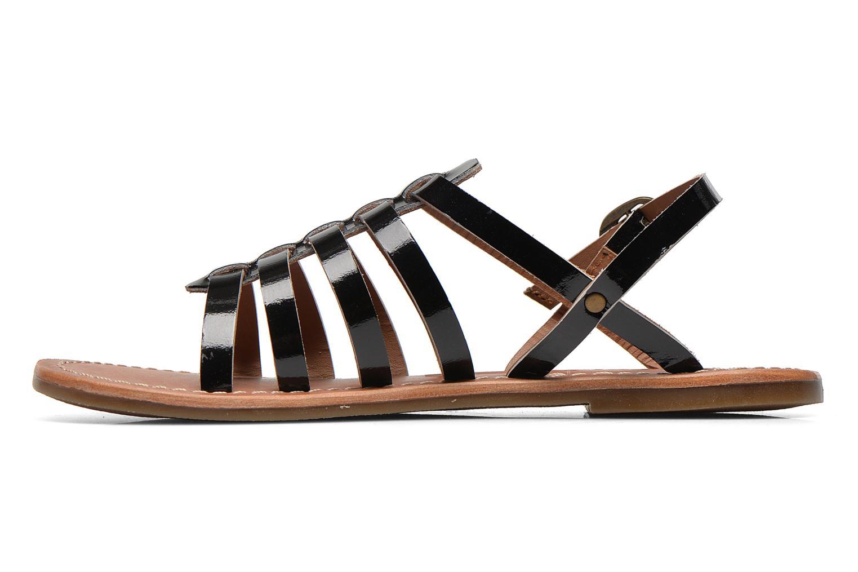 Sandalen Kickers Dixmillion schwarz ansicht von vorne