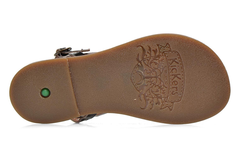 Sandales et nu-pieds Kickers Dixmillion Noir vue haut