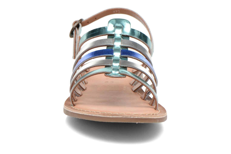 Sandales et nu-pieds Kickers Dixmillion Bleu vue portées chaussures